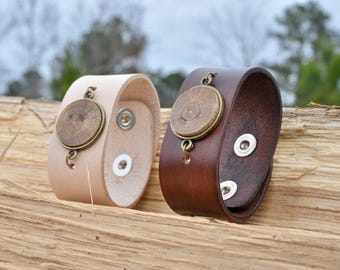 Leather and Wood Cuff Essential Oil Diffuser | Bracelet