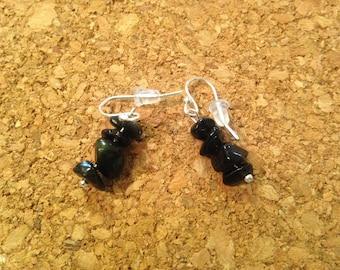 Black beads ear rings