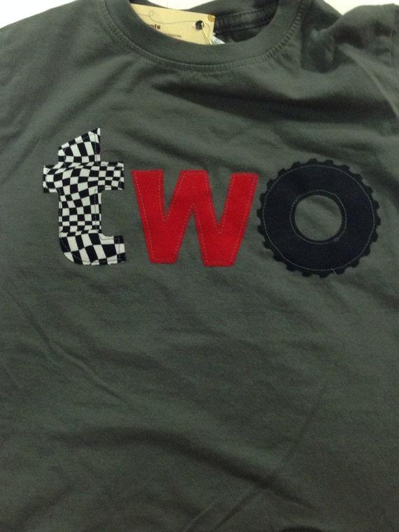 2 Racecar birthday shirt, monster truck wheel birthday, boys two birthday shirt, wheel race hot wheels car, checkered flag 2nd birthday, red