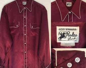 1930's/ 40'S LEVI STRAUSS RODEO Shirt Rare Collectors