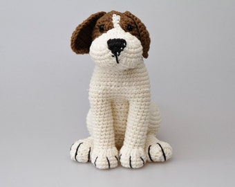 Azor The Beagle Dog Amigurumi Pattern, Puppy Crochet Pattern, nursery decor, birthday present, gifts for kids, home decoration, baby shower
