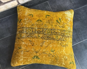 Turkish hanmade decorative vintage pillow 20x20 inches, 50x50