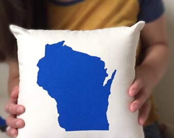 State Pillow - Any state / Home Decor, Wedding, Ring-bearer, Gift for him, Gift for her, Holiday, Christmas