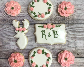 Decorated Sugar Cookies, Wedding Cookies, Shower Cookies, Birthday Cookies, Deer Cookies