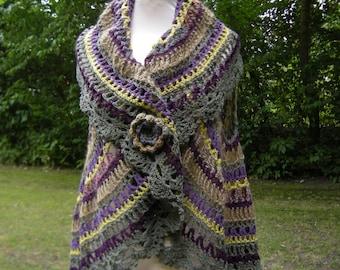 "Crochet Pattern Circular Vest Häkelanleitung - Kreisweste ""Herbst"""