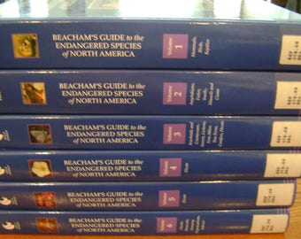 Beacham's Guide to the Endangered Species of North America 6 Vol. set