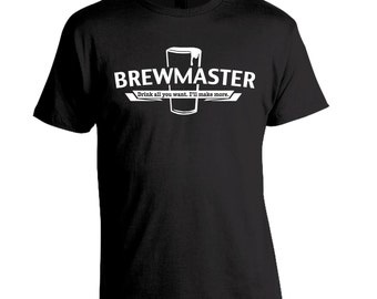 Gift for Dad, Brewmaster Homebrew Shirt, Homebrewer Gift, Craft Beer Shirt, Brewing Beer, Birthday Gift Dad Husband Boyfriend
