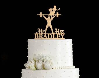 Weight lifting wedding cake topper,Weightlifter cake topper,gym cake topper,weight lifting cake toppers,bodybuilder wedding cake topper,7057