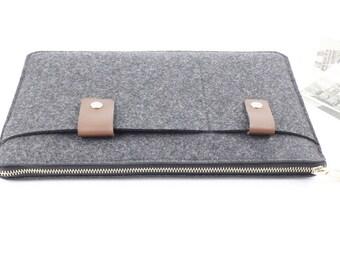 Zipper Felt Macbook sleeve, Macbook Air case, Macbook Pro sleeve, Macbook 11 13 15 Air Pro Sleeve, Macbook Pro Retina sleeve 005