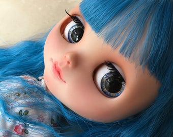 "OOAK SA Hand-painted Handmade 12""Blythe custom eye chips - B17330"