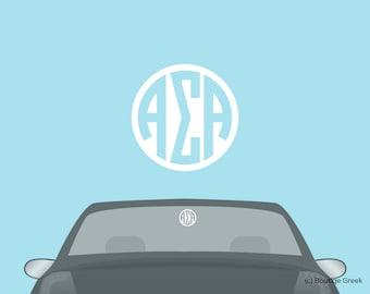 ASA Alpha Sigma Alpha Monogram Car Laptop Dorm Window Vinyl Sorority Decal Sticker