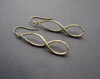 Gold Earrings - Twist Earrings - Modern Earrings - Gold Everyday Earrings