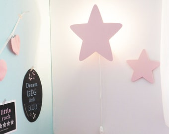 STAR NIGHT LIGHTu2013 Pastel Pink Star Shaped Led Wall Lampu2013Nursery/Childrenu0027s