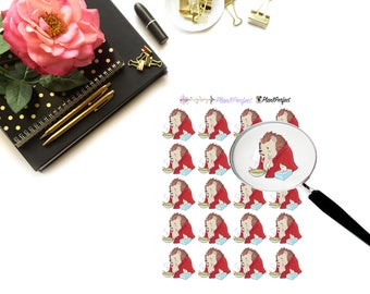 Harley Gets Sick /Hedgehog Stickers. Perfect for your planning and scrapbooking needs!