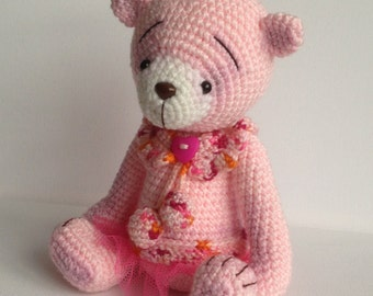 Betty - OOAK Artist Crochet Teddy Bear
