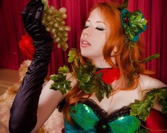 Custom made POISON IVY costume with real corset