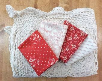 Farmhouse Reds...4 fat quarter bundle...by Minick and Simpson for Moda Fabrics