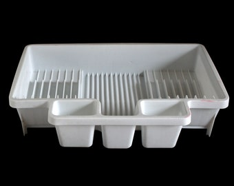 Rubbermaid Dish Drying Rack Side Drainer 1990s Kitchen #6054 White (used)