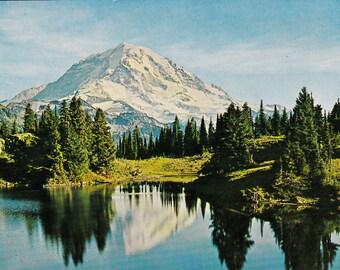Mountain Scene Vintage Postcard Unused Divided Back Paper Ephemera 1950's