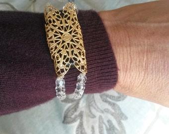 Fitbit Bracelet - passion flower pattern
