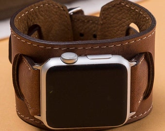 brown watch strap, 38mm apple watch band, 42mm leather strap, apple watch band, gift for her, gift for him, leather watch strap, 38mm ,42mm