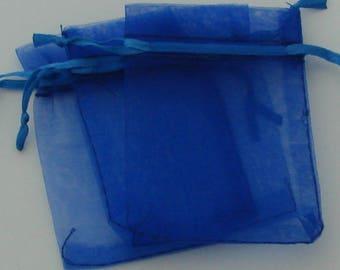 Covers 5 rectangular organza blue 7x9cm