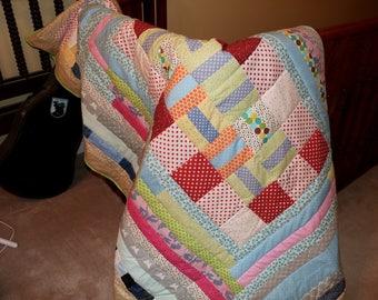 Handmade Patchwork Quilt (Twin size)