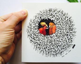 Invitation birth - nest - a set of 25 or more