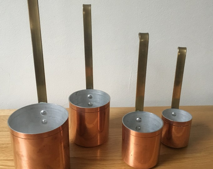 Vintage French Copper Measuring Cups