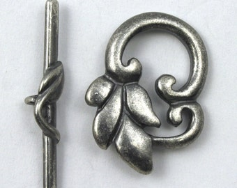 25mm Antique Silver Leaf Toggle Clasp #CLE101