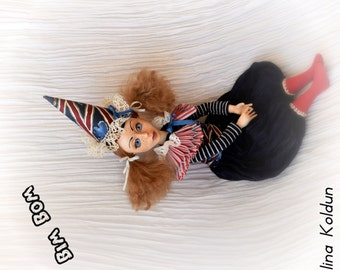 "OOAK Doll / Circus Collection / Travel accessories / Gift for traveller / ""Bim Bom"""