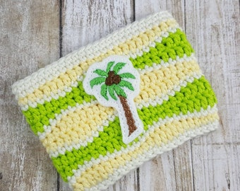 Coconutty cup cozy, beer cozy, beach theme drinks