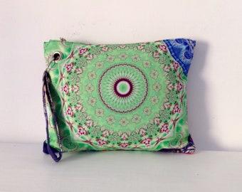Mandala clutch / hand bag   / FREE SHIPPING / OOAK