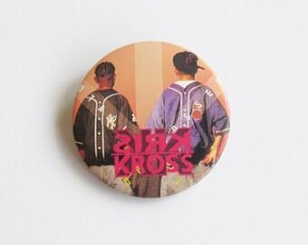 1992 Kris Kross Pin / Vintage Pinback Button / 90s Hip Hop / Rap Music Badge