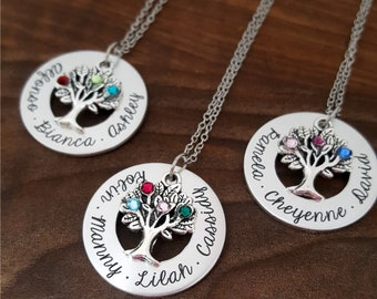 Birthstone Necklace For Mom | Mothers Necklace | Family Tree Necklace | Mother Necklace | Personalized Mothers Necklace | Gift For Mom | Mom