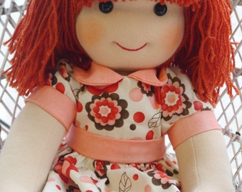 One of A Kind DOLL | Waldorf inspired Doll | Cloth Doll | Rag doll | traditional cloth doll | Collectors doll | Heirloom doll | made in UK