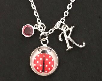 Personalized Ladybug Necklace Ladybug Jewelry