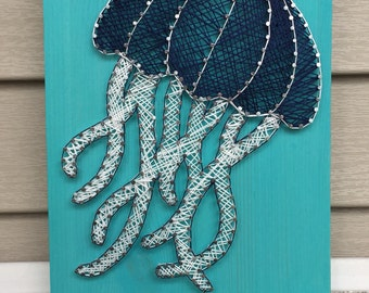 Jellyfish String Art | Nursery Decor | Home Decor | Baby Shower Gift