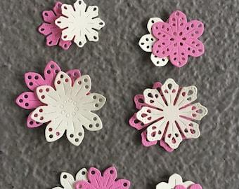Pretty Petals Paper Die Cut Flowers