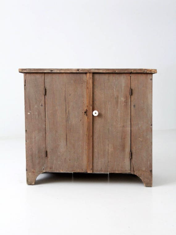 Like this item? - Antique Primitive Cupboard Rustic Wooden Small Cabinet
