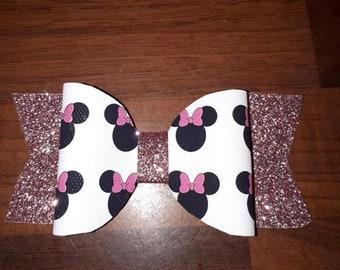 Handmade Minnie Mouse Hairbow