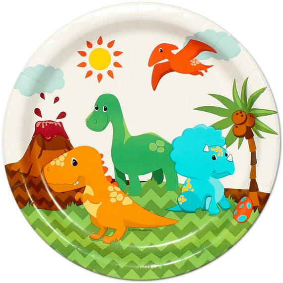 Little Dinosaur Party Paper Plates/ Dino Lunch Plates/ Kids Birthday Baby Shower 1st Birthday Party/ Cute Dinosaurs/ 8 Count - 9\  from BirthdayDirect on ...  sc 1 st  Etsy Studio & Little Dinosaur Party Paper Plates/ Dino Lunch Plates/ Kids Birthday ...