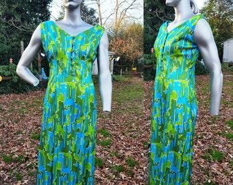 60s Maxi Dress, 60s Costume, Designer Dress, 60s Mod Dress, Vintage Dress, Evening Dress, Vintage Costume, 60s Dress, Arpegio, Dress Size 12
