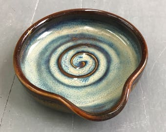 Spoon Rest, Pottery, Wheel Thrown, Kitchen