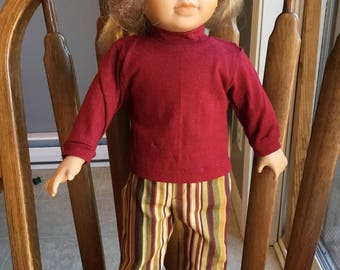 "Jeans and shirt for 18"" dolls such as American girl"