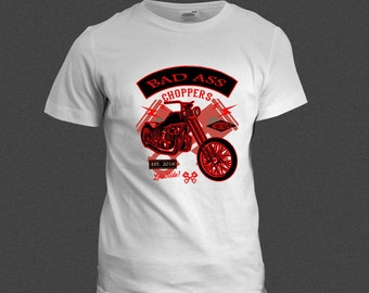 Bad Ass Chopper Motorcycle Shirt
