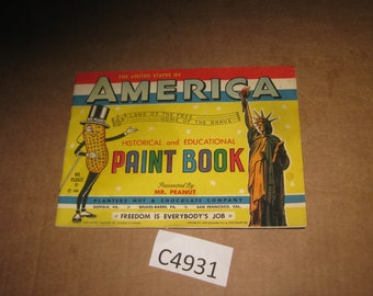 Mr Peanut United States Historical & Educational Paint Book   [c4931o]