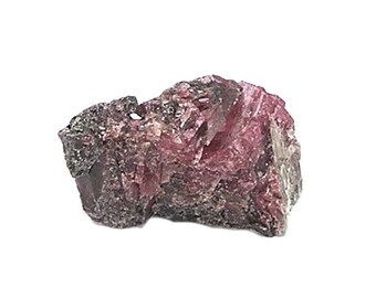 Rhodonite Rose Pink Crystalline Mineral Earth Specimen from the gem fields of Brazil, Geology Sample for your rock and mineral collection