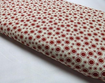 Bryant Park Melissa Saylor Wilmington Prints Red Retro Dots Quilting Fabrics Sewing Quilt Quilters Sew