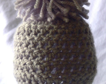 Crochet Baby Pom Hat